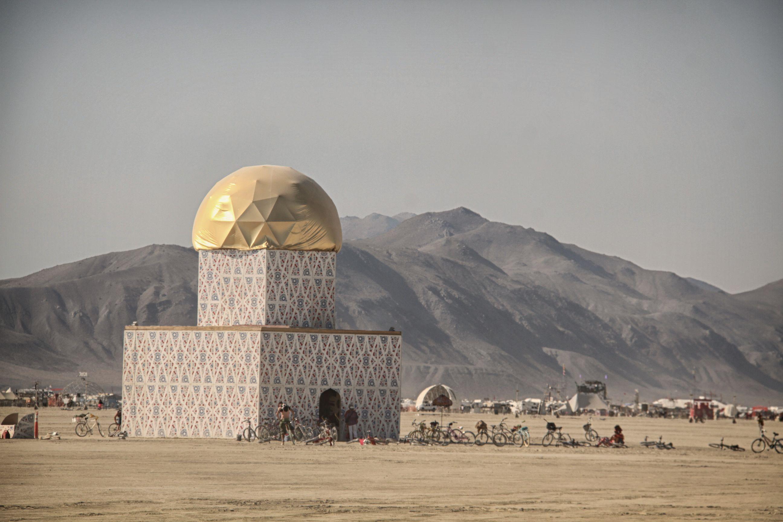 Mosque in the desert of Black Rock